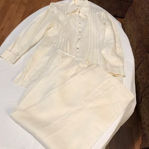 Carole Little 100% Ramie pant suit, like new!